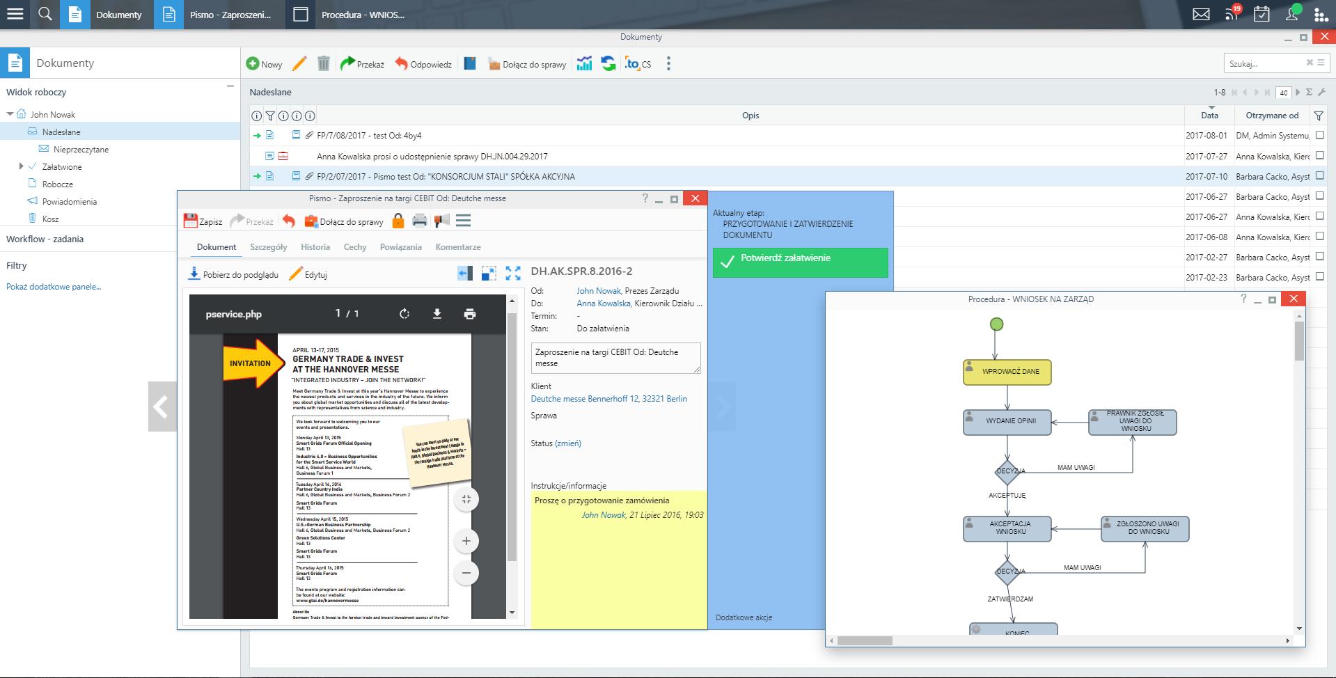 Obieg dokumentów i workflow